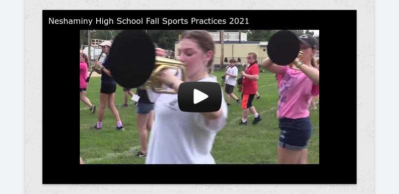 Neshaminy High School Fall Sports Practices 2021