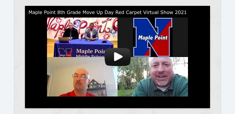 Maple Point 8th Grade Move Up Day Red Carpet Virtual Show 2021