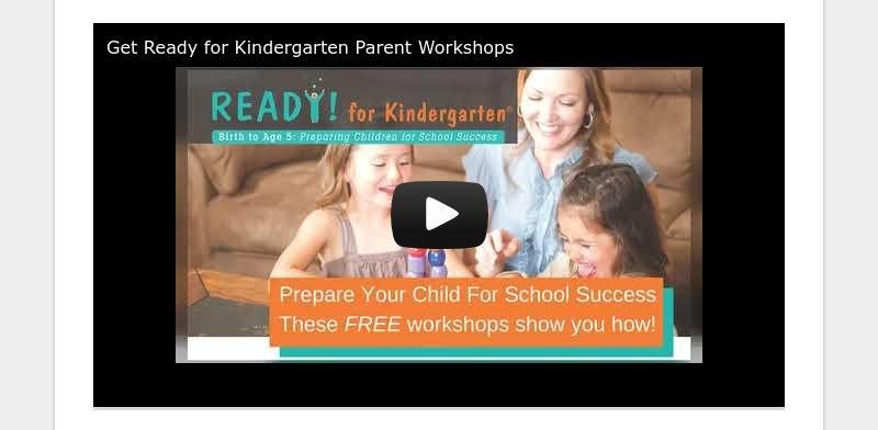 Get Ready for Kindergarten Parent Workshops