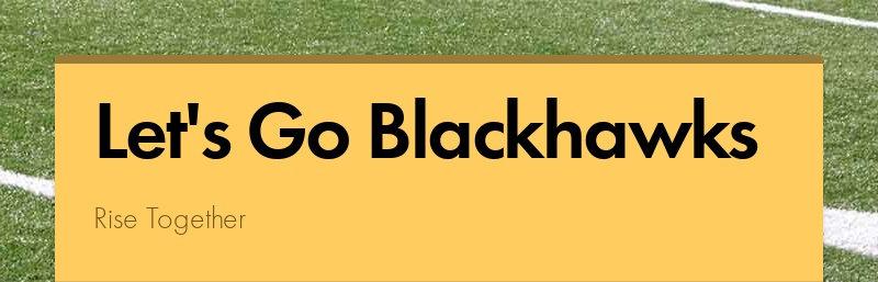 Let's Go Blackhawks Rise Together