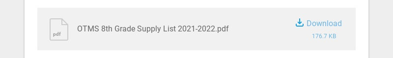 pdf OTMS 8th Grade Supply List 2021-2022.pdf Download 176.7 KB