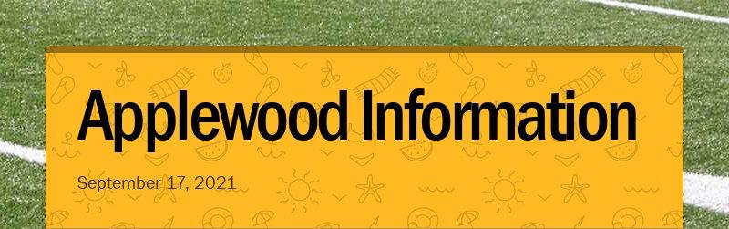 Applewood Information September 17, 2021