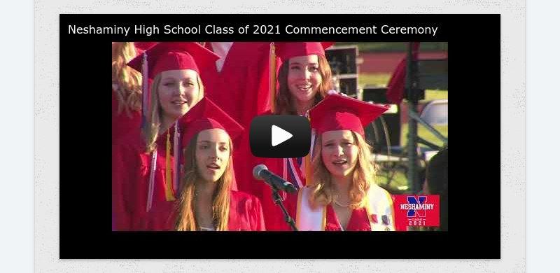 Neshaminy High School Class of 2021 Commencement Ceremony