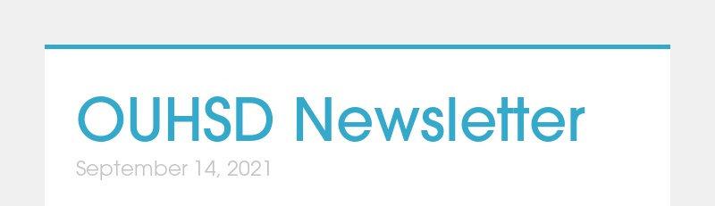 OUHSD Newsletter September 14, 2021