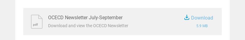 pdf OCECD Newsletter July-September Download and view the OCECD Newsletter Download 5.9 MB