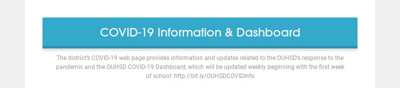 COVID-19 Information & Dashboard The district's COVID-19 web page provides information and...