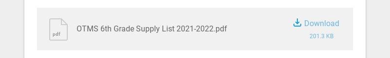 pdf OTMS 6th Grade Supply List 2021-2022.pdf Download 201.3 KB