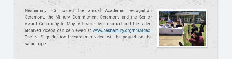 Neshaminy HS hosted the annual Academic Recognition Ceremony, the Military Commitment Ceremony...
