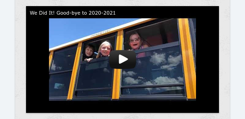 We Did It! Good-bye to 2020-2021