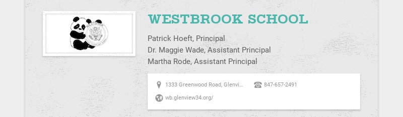 WESTBROOK SCHOOL Patrick Hoeft, Principal Dr. Maggie Wade, Assistant Principal Martha Rode,...