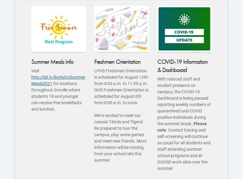 Summer Meals Info Visit http://bit.ly/ButteCoSummerMeals2021 for locations throughout Oroville...