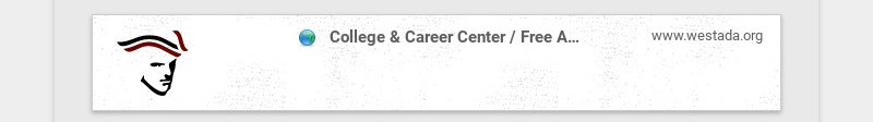 College & Career Center / Free Application for Federal Student Aid (FAFSA) www.westada.org