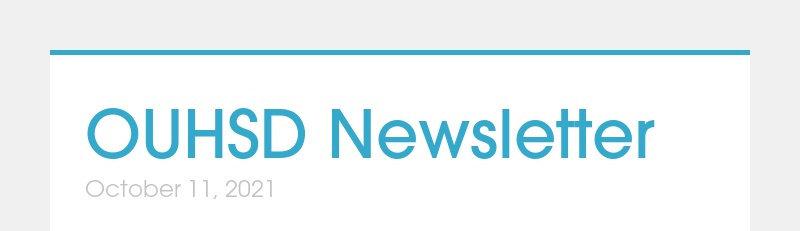 OUHSD Newsletter October 11, 2021