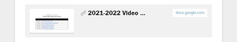 2021-2022 Video Message Archive docs.google.com