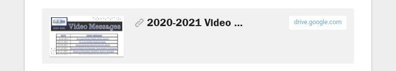 2020-2021 Video Message Links.pdf drive.google.com