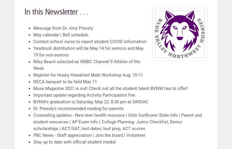 In this Newsletter . . .
