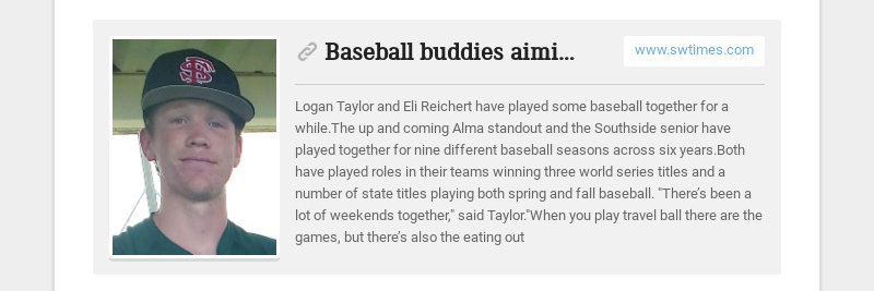 Baseball buddies aiming for next level