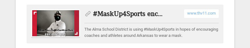 #MaskUp4Sports encourages athletes to wear a mask in hopes of a football season