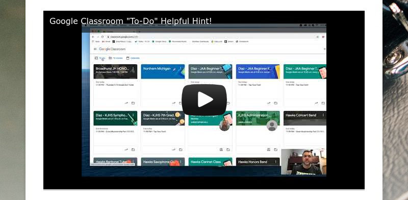 "Google Classroom ""To-Do"" Helpful Hint!"