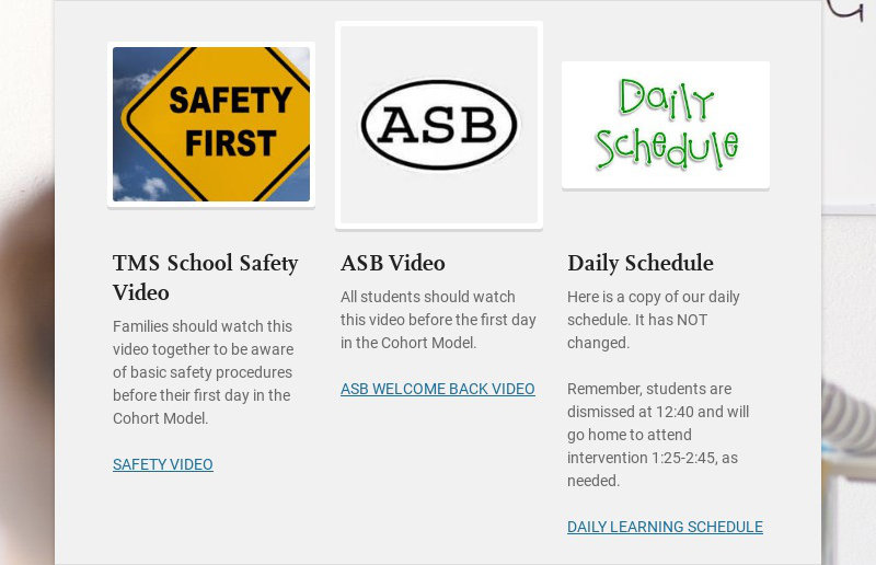 TMS School Safety Video