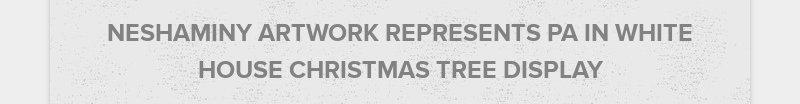 NESHAMINY ARTWORK REPRESENTS PA IN WHITE HOUSE CHRISTMAS TREE DISPLAY