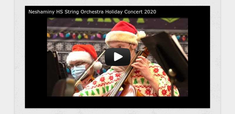 Neshaminy HS String Orchestra Holiday Concert 2020