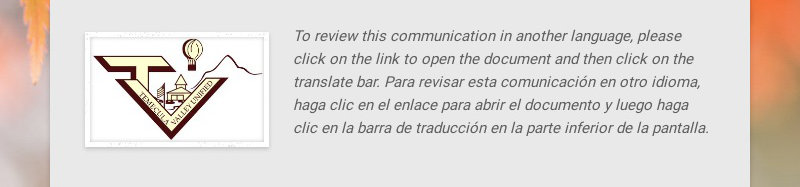 To review this communication in another language, please click on the link to open the document...