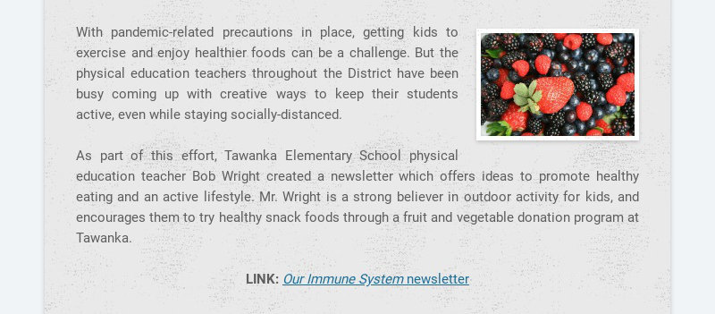 With pandemic-related precautions in place, getting kids to exercise and enjoy healthier foods...