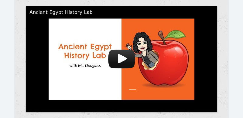 Ancient Egypt History Lab