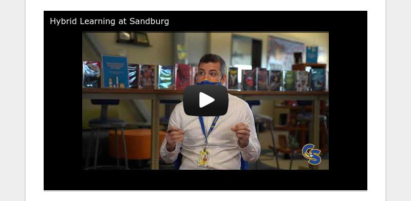 Hybrid Learning at Sandburg