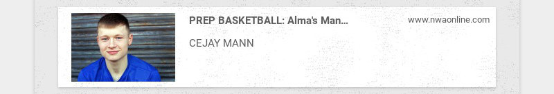 PREP BASKETBALL: Alma's Mann signs with Arkansas Tech