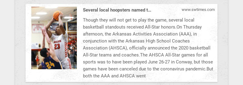 Several local hoopsters named to All-Star teams