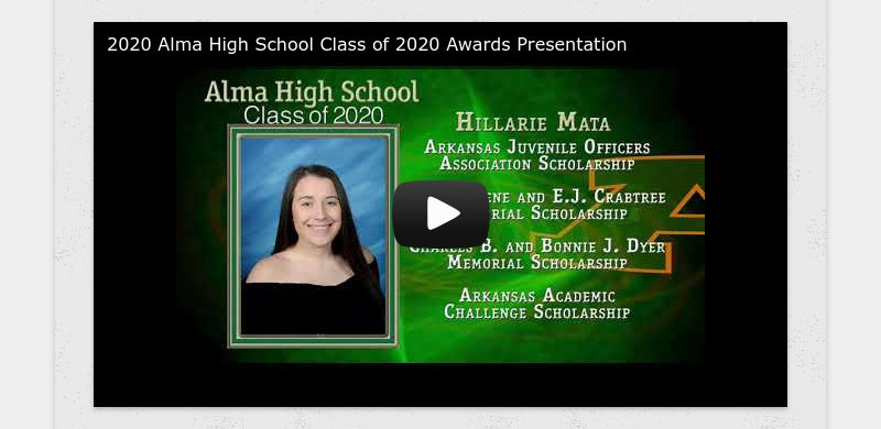 2020 Alma High School Class of 2020 Awards Presentation