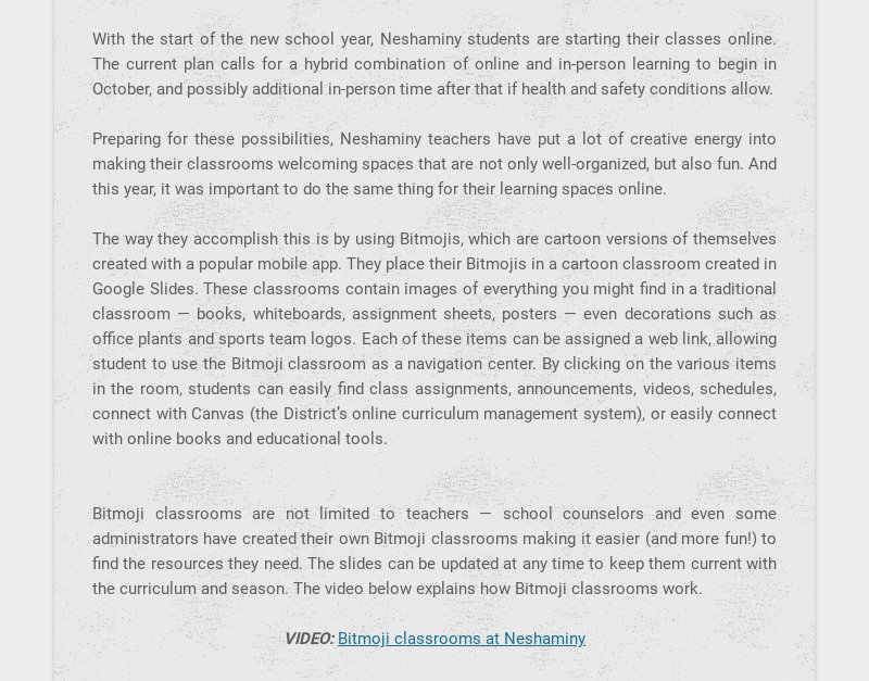 With the start of the new school year, Neshaminy students are starting their classes online. The...