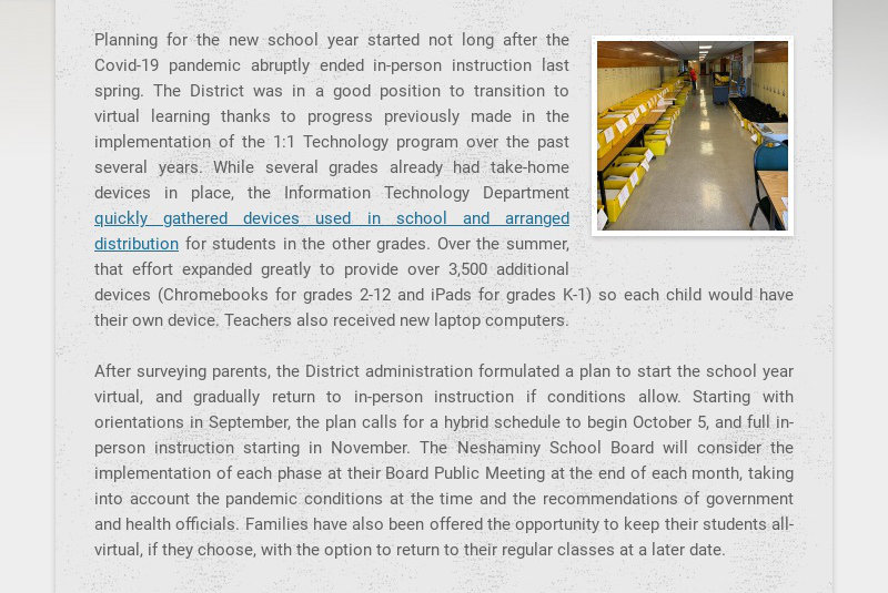 Planning for the new school year started not long after the Covid-19 pandemic abruptly ended in-...