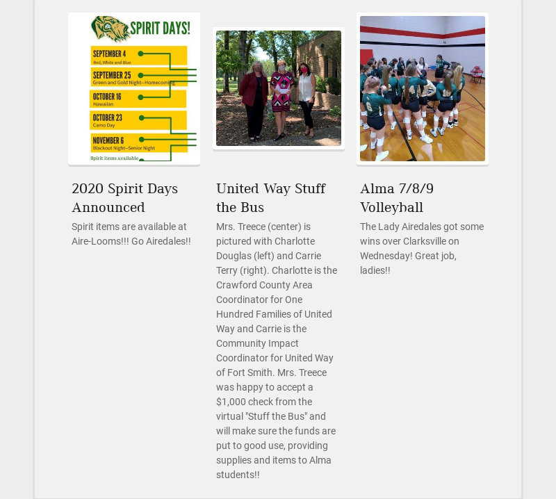 2020 Spirit Days Announced Spirit items are available at Aire-Looms!!! Go Airedales!!...