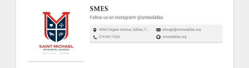 SMES Follow us on Instagram! @smesdallas 4344 Colgate Avenue, Dallas, TX 75225, USA...