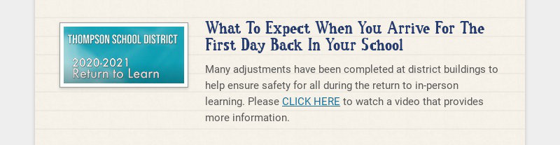 What To Expect When You Arrive For The First Day Back In Your School Many adjustments have been...