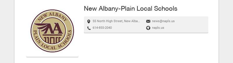 New Albany-Plain Local Schools 55 North High Street, New Albany, OH, USA news@napls.us...