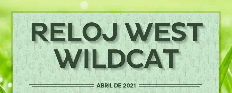 RELOJ WEST WILDCAT                                             ABRIL DE 2021