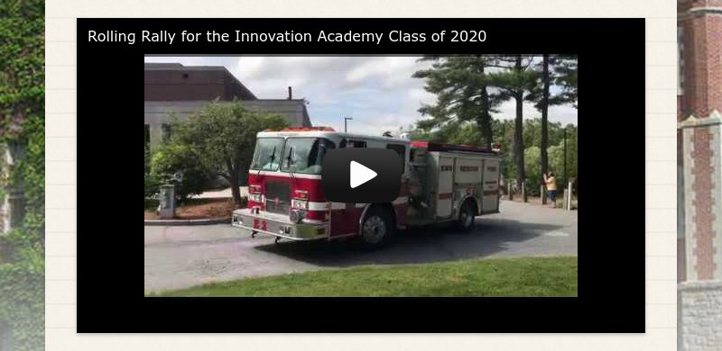 Rolling Rally for the Innovation Academy Class of 2020
