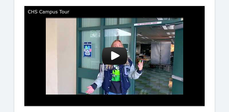 CHS Campus Tour