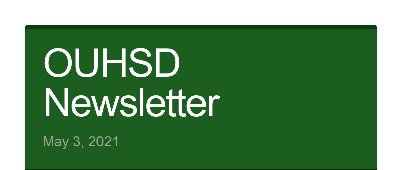 OUHSD Newsletter May 3, 2021