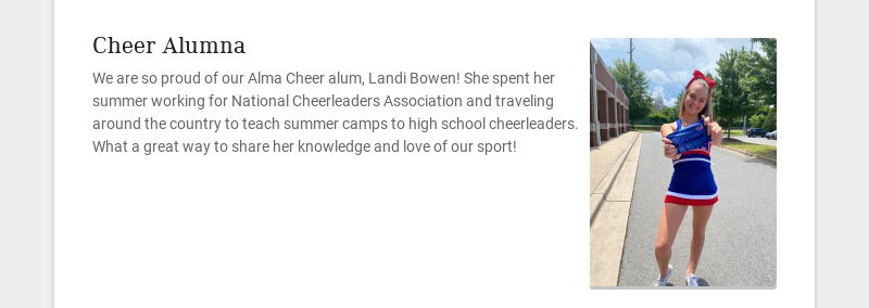 Cheer Alumna