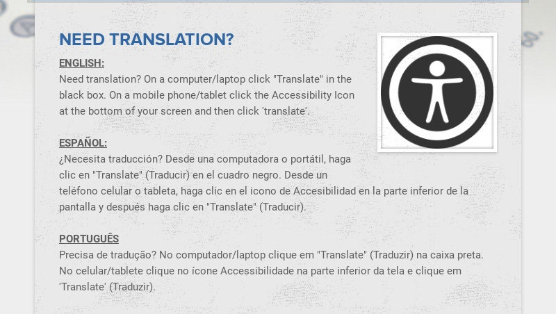 """NEED TRANSLATION? ENGLISH: Need translation? On a computer/laptop click """"Translate"""" in the black..."""