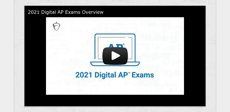 2021 Digital AP Exams Overview