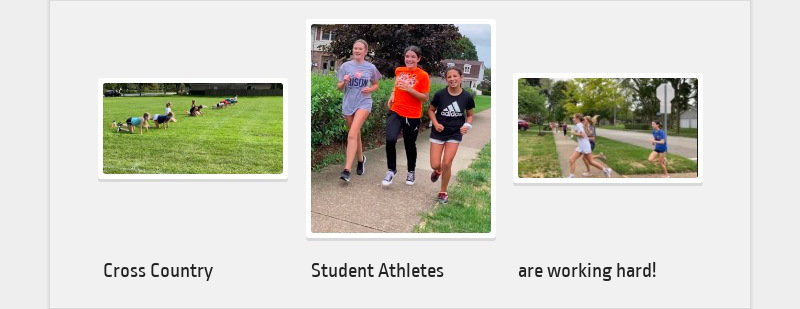Cross Country Student Athletes are working hard!
