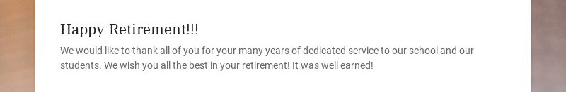 Happy Retirement!!!