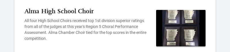Alma High School Choir