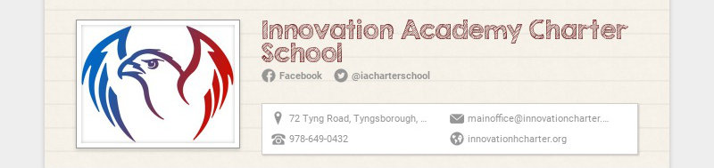 Innovation Academy Charter School Facebook @iacharterschool 72 Tyng Road, Tyngsborough, MA,...